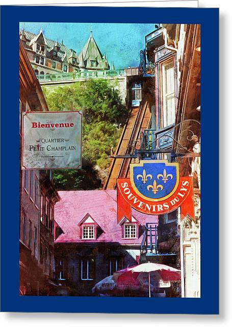 Old Quebec City Funicular Greeting Card