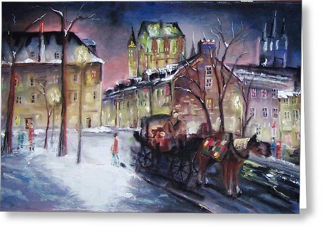 old Quebec Greeting Card by Peter Suhocke