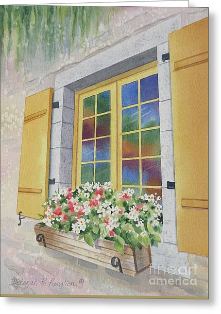 Old Quebec Window Greeting Card