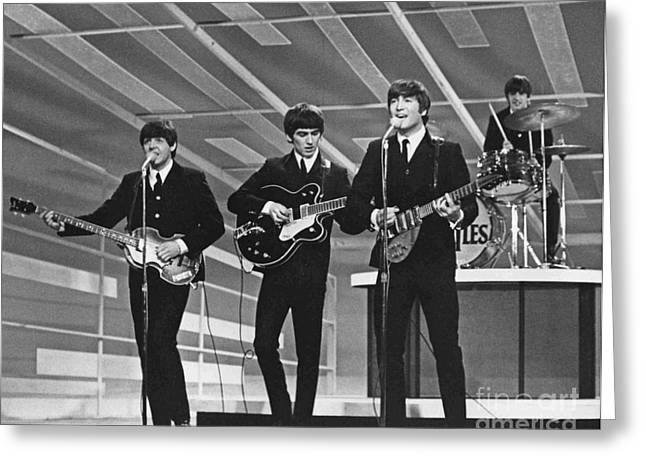 Old Rare Beatles Greeting Card by Pd