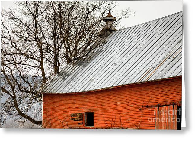 Old Red Barn Quechee Vermont Greeting Card