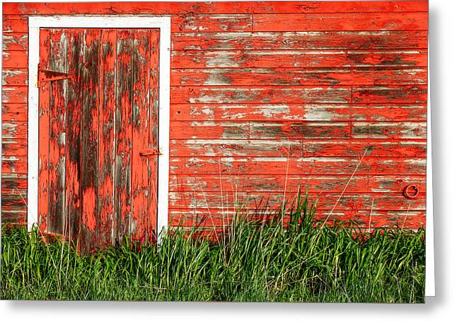 Old Red Barn Wall Greeting Card by Todd Klassy