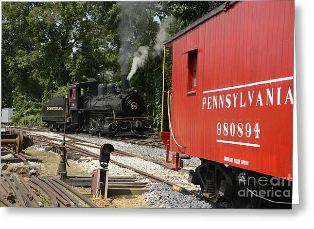 Old Red Caboose Greeting Card by Paul W Faust -  Impressions of Light