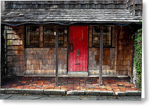 Old Red Door Greeting Card by Christopher Holmes