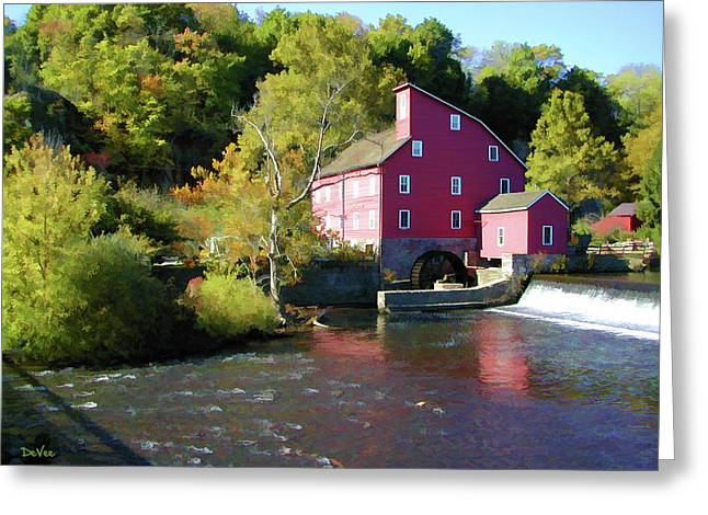 Old Red Mill Greeting Card by Doug Vance