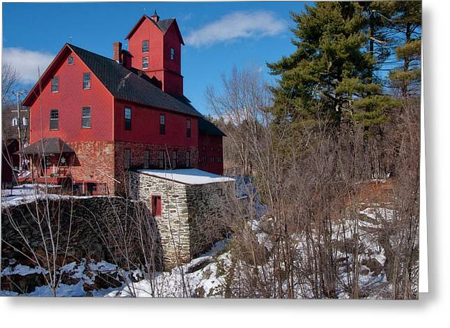 Old Red Mill - Jericho, Vt. Greeting Card by Joann Vitali