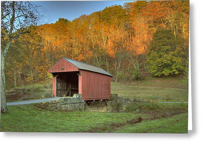 Old Red Or Walkersville Covered Bridge Greeting Card