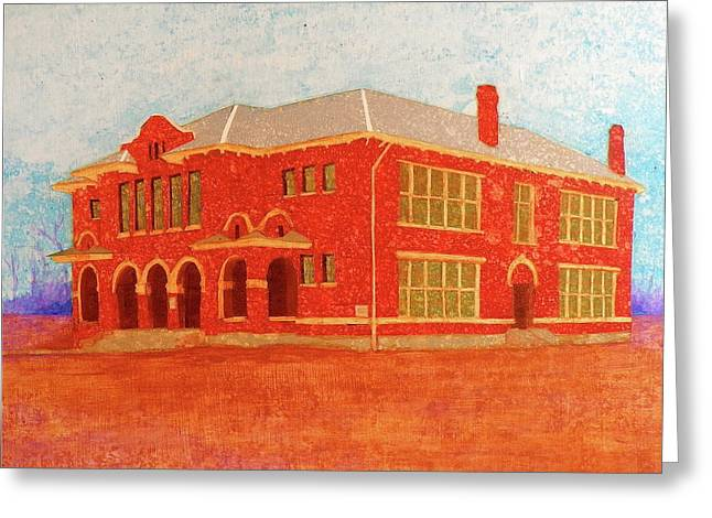 Old Red Somerville School Greeting Card
