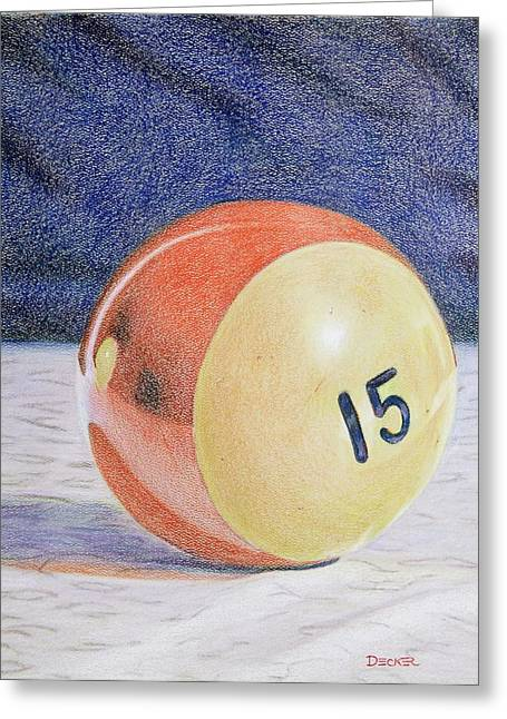 Greeting Card featuring the painting Old Red Stripe 15 by Robert Decker