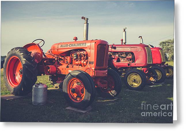 Old Red Vintage Tractors Prince Edward Island  Greeting Card