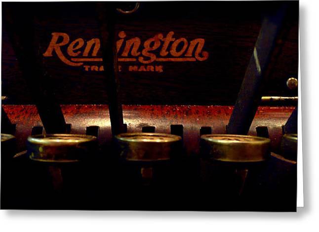 Old Remington Cash Register Greeting Card by Lori Seaman