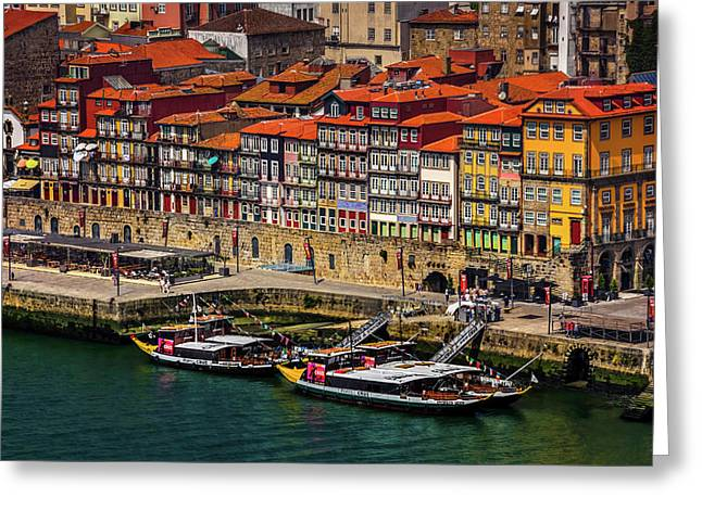 Old Ribeira Porto  Greeting Card by Carol Japp