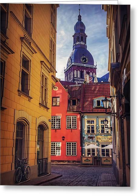 Old Riga  Greeting Card by Carol Japp