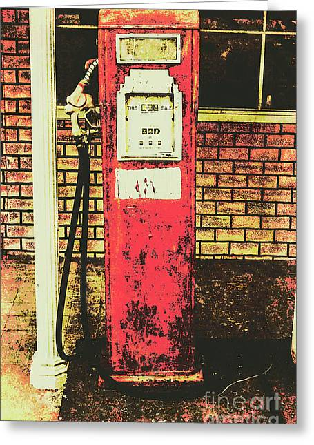 Old Roadhouse Gas Station Greeting Card