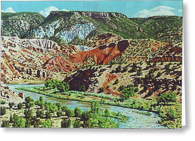 Old Roads To Chama Greeting Card by Allen Kerns
