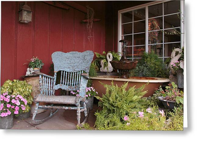 Greeting Card featuring the photograph Old Rockin' Chair by Susan Rissi Tregoning