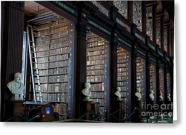 Old Room In The Trinity College Library In Dublin Greeting Card