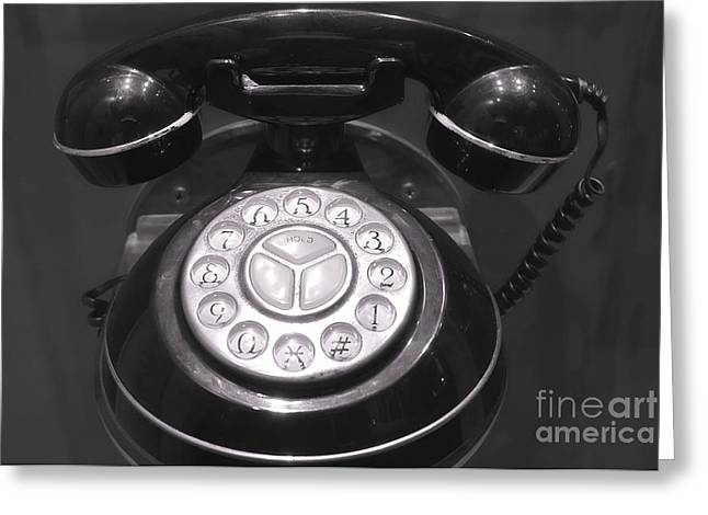Old Rotary Dial Telephone Greeting Card