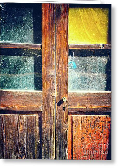 Greeting Card featuring the photograph Old Rotten Door by Silvia Ganora