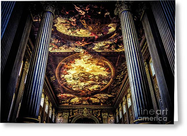 Old Royal Naval College 1 Greeting Card by Lexa Harpell