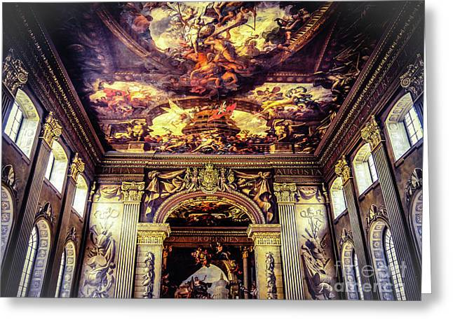 Old Royal Naval College 3 Greeting Card by Lexa Harpell