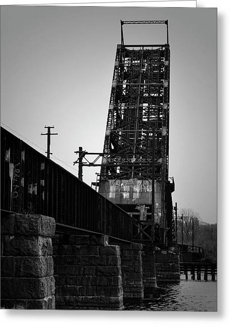 Old Rr Bridge Providence Ri Greeting Card