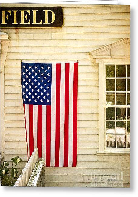 Old Rugged Field Flag Greeting Card by Craig J Satterlee
