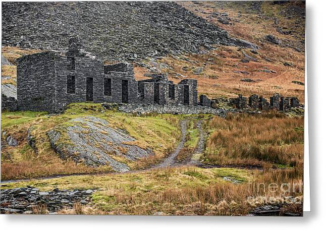 Old Ruin At Cwmorthin Greeting Card by Adrian Evans