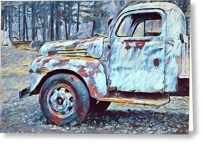 Old Rusted Truck Greeting Card by Dan Sproul