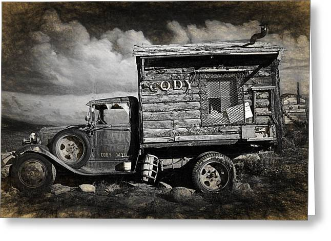 Old Rusted Truck From Cody Wyoming Greeting Card
