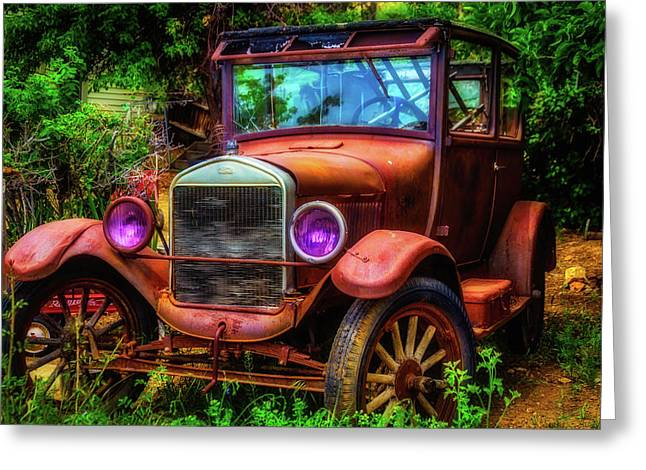 Old Rusting Ford Greeting Card