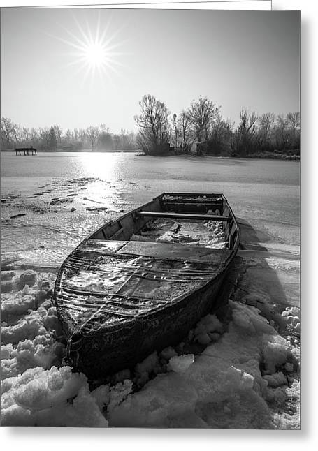 Old Rusty Boat Greeting Card by Davorin Mance