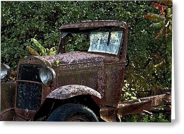Old Rusty Greeting Card by Ross Powell