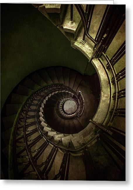 Old Rusty Spiral Staircase Greeting Card