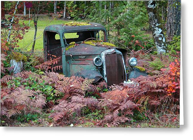 Old Rusty Truck I C1000 Greeting Card by Mary Gaines