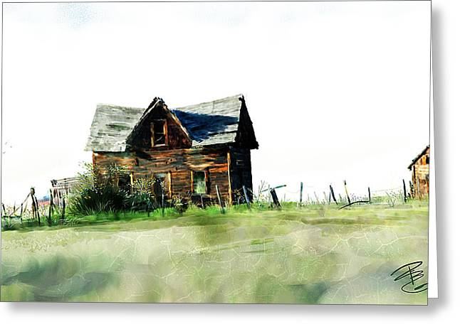 Old Sagging House Greeting Card by Debra Baldwin