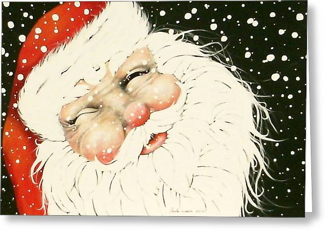 Old Saint Nick Greeting Card by Paula Weber