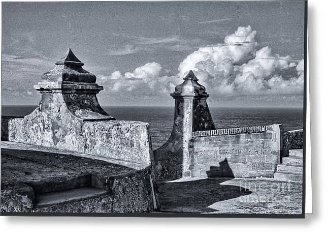 Old San Jaun Fort Greeting Card