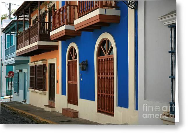 Old San Juan #4 Greeting Card by Timothy Johnson