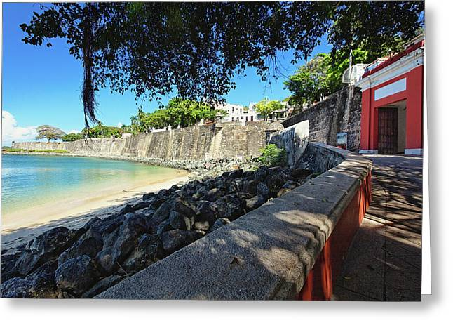 Old San Juan City Gate  Greeting Card by George Oze