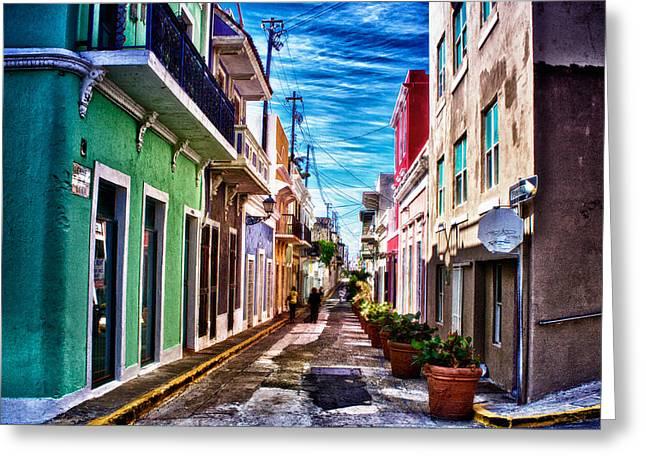 Old San Juan Greeting Card by Jarrod Erbe