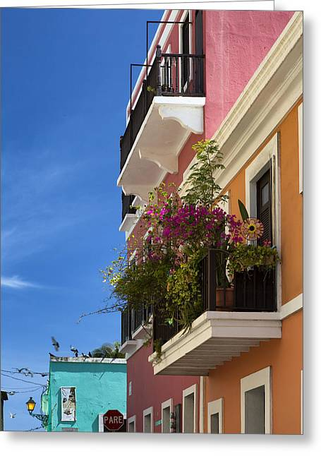 Greeting Card featuring the photograph Old San Juan by Patrick Downey