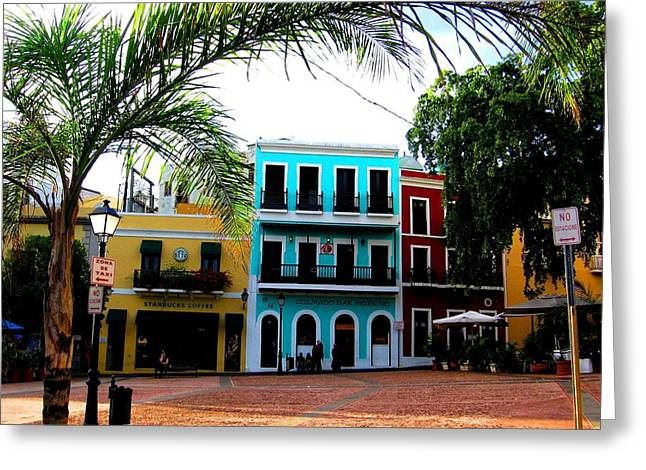 Old San Juan Pr Greeting Card