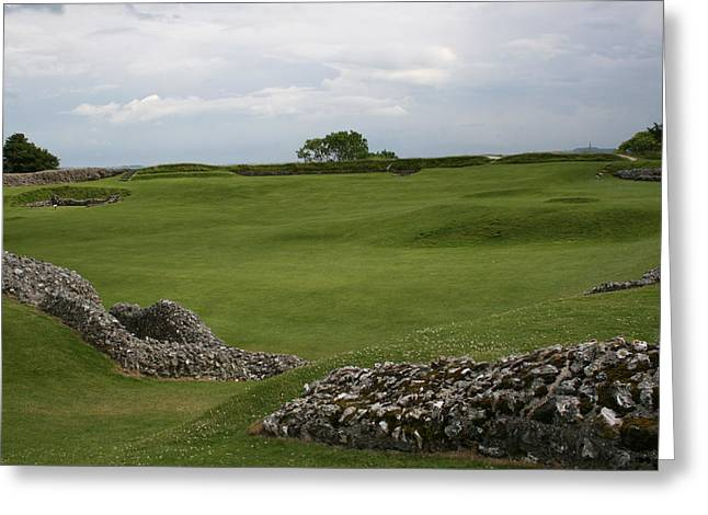 Greeting Card featuring the photograph Old Sarum by Mary Mikawoz