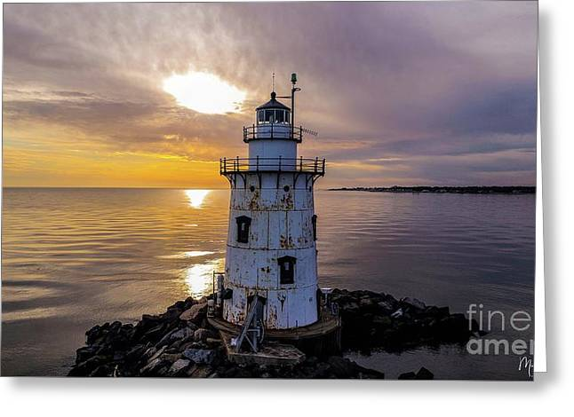 Old Saybrook Outer Light Greeting Card