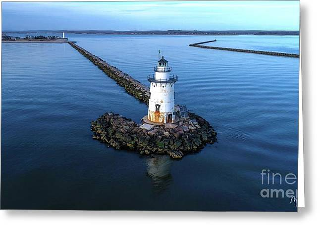 Old Saybrook Outer Lighthouse Greeting Card