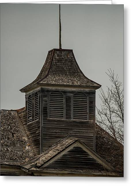 Old School Bell Tower Greeting Card