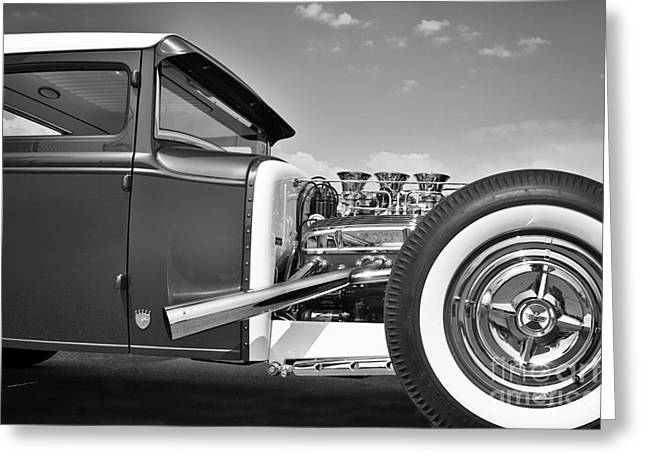 Old School Coupe Greeting Card by Dennis Hedberg
