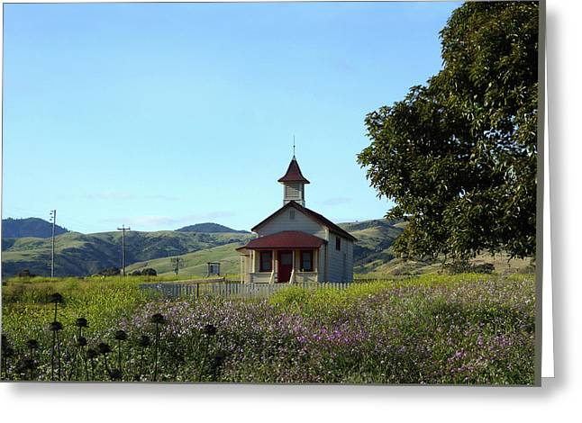 Old School House Greeting Card by Gordon Beck