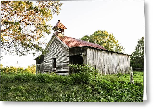 Old School House Greeting Card by Lisa Lemmons-Powers